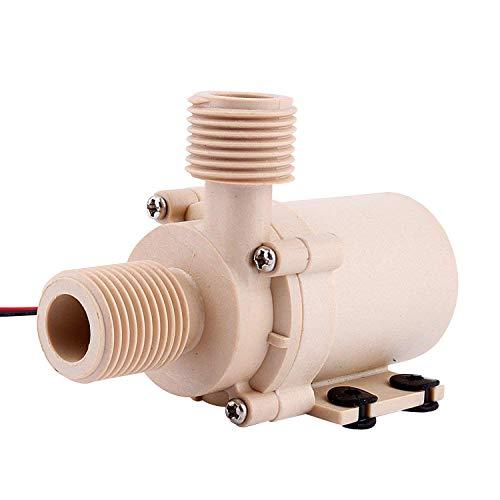 Yosoo Solar DC 12V/24V Heißes Wasser Circulation Pump Bürstenlose Motor Wasserpumpe 3m/5m Niedriger Lärm (12v)