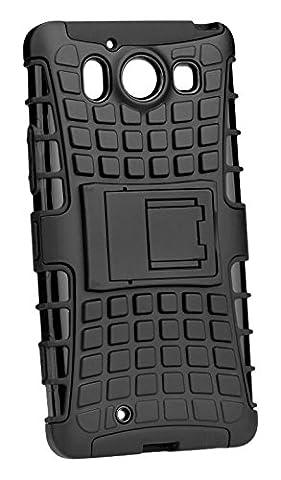 Mobility Gear MGRBC1HUG6B Coque RBC Anti-Chocs Silicone Gel pour Huawei G620S Noir