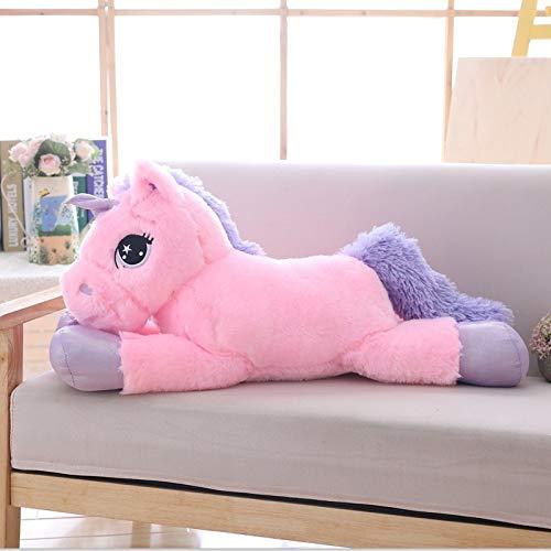 ysldtty Weißes Einhorn Plüschtiere Riesen Einhorn Kuscheltier Pferd Spielzeug Weiche Unicornio Peluche Puppe Geschenk Kinder Foto Requisiten Rosa 80 cm