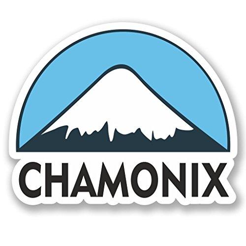 Preisvergleich Produktbild 2x Chamonix Ski Snowboard Vinyl Aufkleber Aufkleber Laptop Reise Gepäck Auto Ipad Schild Fun # 5130 - 10cm/100mm Wide