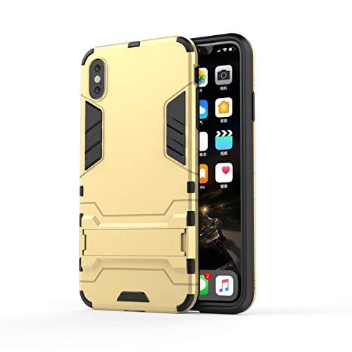Für ZTE Nubia Z17S Hülle, Shockproof TPU + PC Hybrid Ständer Schutzhülle Case Cover für ZTE Nubia Z17S [Golden]