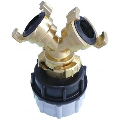 Splitter a Y 'IBC accessori serbatoio acqua, accoppiamento rapido, +