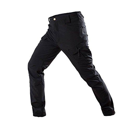 ATAIRSOFT Hommes BDU Combat Pantalon Imperméable pour Randonnée Airsoft (Noir, XXL)