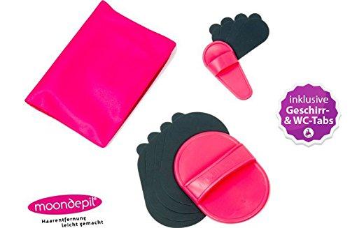 moondepil Komplettset - Haarentfernung leicht gemacht - inkl. innovativer WC- und Geschirrspültabs