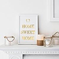 "Placa de madera luminosa ""Home Sweet Home"" a pilas de Lights4fun"