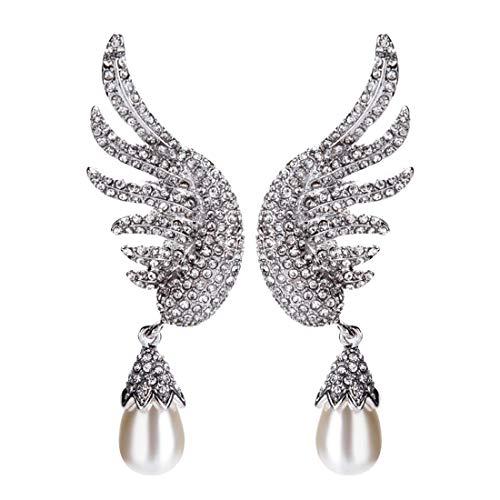 Kostüm Zukunft Einfache - Fliege MÄNNER Diamant Ohrringe Mehrschicht Anhänger Flügelform Perle Mode Elegant Romantisch Böhmischen Stil Geburtstag