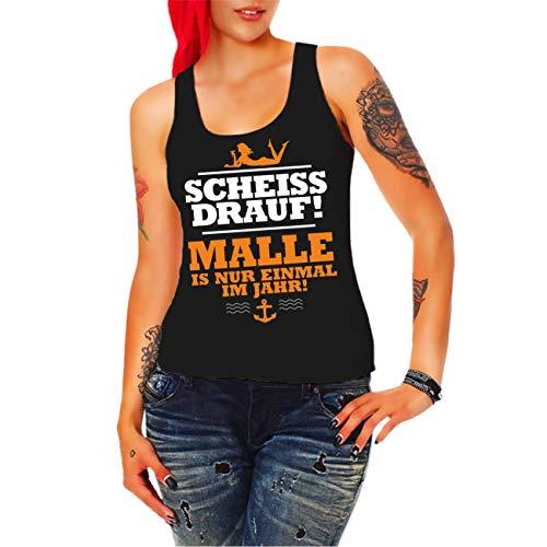 Spaß kostet Frauen Girls Tank Top Trägershirt Mallorca Malle ist nur einmal im Jahr ORANGE Größe XS - 3XL