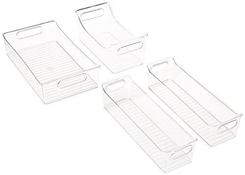 MDesign Juego 4 cajas plástico cocina - Envases plástico