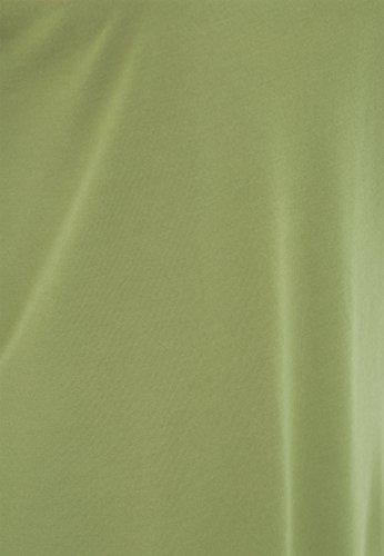 QUEEN KEROSIN Basic T-Shirt aus Viskose-Mix Damen Rundhals Kurzarm QK120056 Olivgrün