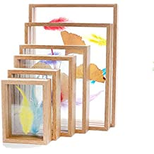 Marco de la foto de un conjunto de cinco cuadrados de cristal de doble cara muestra marcos de fotos para tabla transparente Marco de la tapa de tabla,Color ...