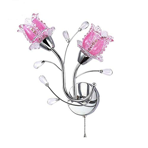 Wandlampen Blume Design Modern Glas Doppelt Kopf Mode Glas Lampenschirm LED Studierzimmer Schlafzimmer Bett Licht Persönlichkeit Innen Nachttisch Beleuchtung Befestigung