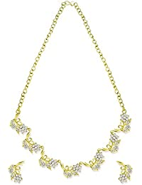 Zaveri Pearls Jewellery Set For Women (Gold, White) (ZPFK5357)