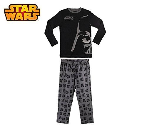 1724 Pigiama da bambino con grafica di Star Wars in caldo cotone da 6 a 12 anni. MEDIA WAVE store ® (12 anni)