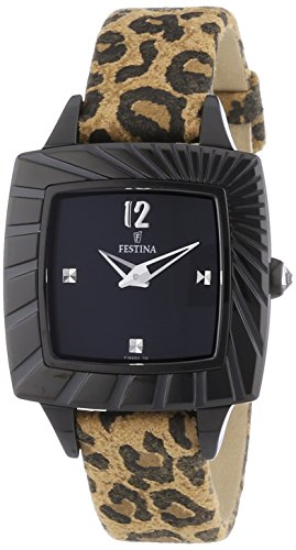 Festina Women's Quartz Watch with Black Dial Analogue Display Quartz Leather F16651/3