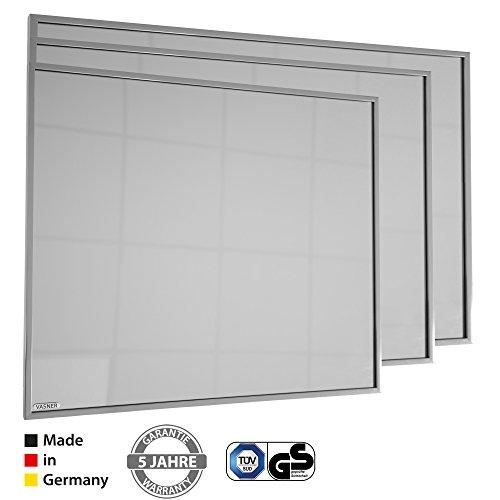 VASNER Zipris S Infrarot Heizung Spiegel Titan-Rahmen 400/700 / 900 Watt 5 J Garantie Bild 4*