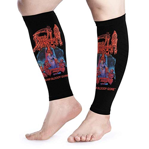 Bikofhd Wadenkompressions-Ärmel Leg Performance Support Death Cream Bloody Gore Leg Support Socks for Women Men 1 Pair -
