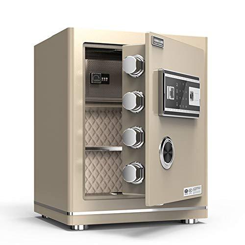 Caja Fuerte de Seguridad Cerradura de Teclado Electrónica Sólida,45x38x32cm Oficina de Hotel...