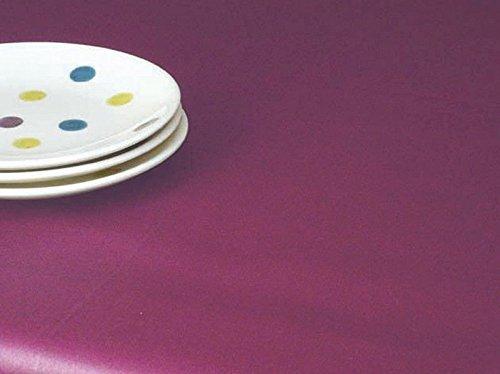 Fleur de soleil Nappe Unis Prune Coton Enduit 160x300