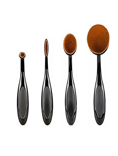 NiceButy Toothbrush Fondation Shape Sourcils Maquillage Kits Pinceau Poudre Pinceau 4pcs/set