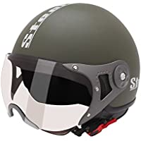 Speedwav 198411 Steelbird Helmet SB 27 Style Open Face Helmet(Matt Green_Large)