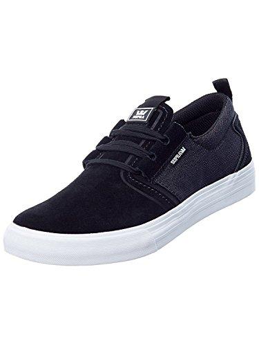 Scarpe Supra: Flow Black BK Black/black Denim-white