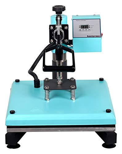 RICOO Transferpresse T538B-TB [38x38cm] T-Shirtpresse Heat Press Thermopresse Textilpresse für Transfer-Folie Transfer-Papier    Türkisblau    - 4