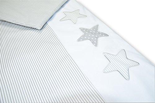 Amilian®  Baby Bettwäsche Design: S01, 80x80 cm + 35x40 cm (4 tlg.)