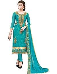 Kimisha Women's Chanderi Straight salwar suit