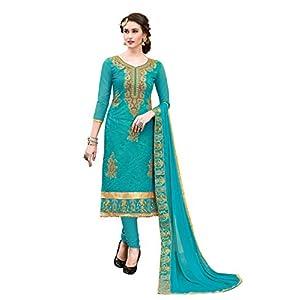 Blissta Women's Modal Dress Material MDSLVN6005 Turquoise OneSize