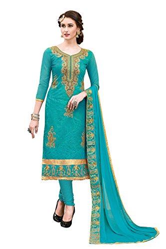 Blissta Women\'s Unstitched Handwork Salwar Suit Sets ( Free_Size)