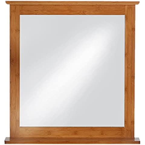 EISL BMBA02-SP - Espejo (67 x 81 x 0,6 cm, madera de bambú)