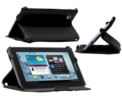 Navitech Custodia Nera Multi Stand in pelle Bycast per Samsung Galaxy Tab 2 P3100 7.0