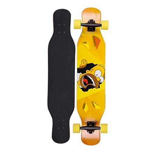 Skateboards 42-Zoll-Longboard-Skateboard mit durchgehendem kanadischen Ahorn-konkaven Deck (Kanadische Ahorn-skateboard-deck)