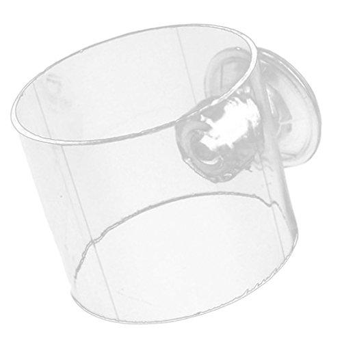 Gazechimp 1 Stück Verstellbar Saugnapf Aquarium Fisch Tank Speise einzug Fütterung Ring - Klar L
