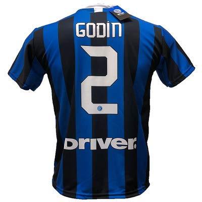 DND D'Andolfo - Camiseta de fútbol Inter Godin 2 réplica autorizada 2019-2020, Tallas de niño y Adulto...