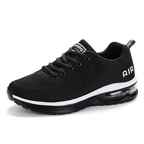Flarut Unisex Uomo Scarpe da Ginnastica Corsa Sportive Fitness Donna Running Sneakers Basse Interior Air Casual all'Aperto(Nero,39)