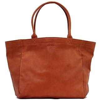 41ADB5cU2bL. SS324  - Mon PARTENAIRE Naturel tamaño M Bolso de Mano de Cuero Bolso de Estilo Vintage marrón PAUL MARIUS