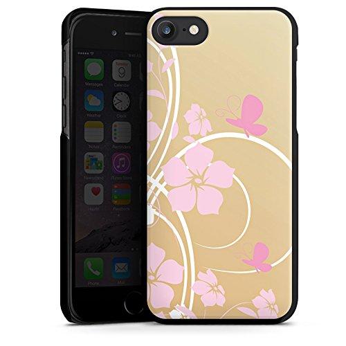 Apple iPhone X Silikon Hülle Case Schutzhülle Blume Schmetterling Floral Hard Case schwarz