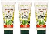 (3 PACK) - Aloe Pura - Aloe Vera Gel + Tea Tree | 200ml | 3 PACK BUNDLE