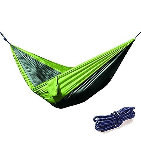 Paciffico extérieur Hamac hamacs double de tissu en nylon de parachute Portable de camping pour pique-nique randonnée Leisure Park ou de plage 55