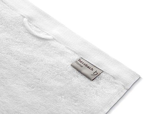 herzbach home Luxus Saunatuch Premium Qualität Weiß - 4