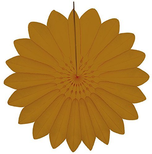 Papier Fantasies ? Tissue Papier Fan Dekoration 67 cm ? Old Gold # 7174?019