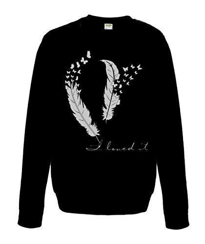 veste à capuche DamensweatShirt Papillon Argent