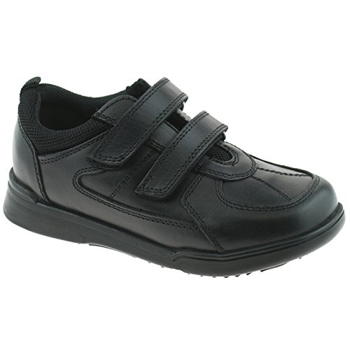 Hush Puppies Liam, Zapatos para Uniformes de Escuela para Niños, Negro, 28 EU