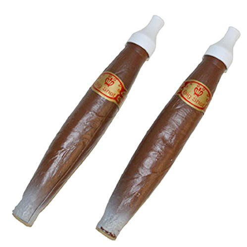 Zauberclown - Kostüm Accessoire Police- Mafia Mottoparty Zigarren, 2 Stück, 28cm, (Officer Kostüm Polizei Stück Ein)