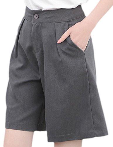 erdbeerloft - Damen Casual High Waist Hose, 34-42, Viele Farben Grau