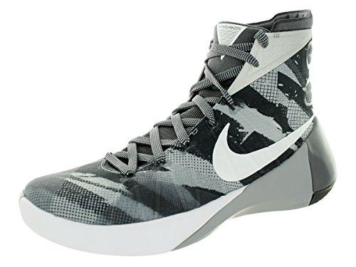 Nike Hyperdunk 2015 Prm, Chaussures de Sport-Basketball Homme WOLF GREY/WHITE-DARK GREY