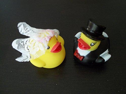 Quietschenten Entchen Brautpaar Braut Bräutigam Entenpaar Bade-Ente vom Sachsen Versand