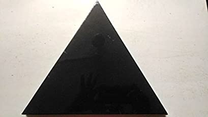KABEER ART® Cotton Medium Grain Stretched Triangle Shaped Black canvas Frame of 12 inches