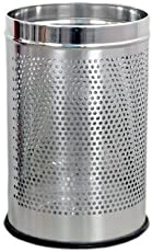 "Sssilverware Stainless Steel Perforated Open Dustbin/ Stainless Steel Garbage Bin/ - 5 Litre (7""X10"")"